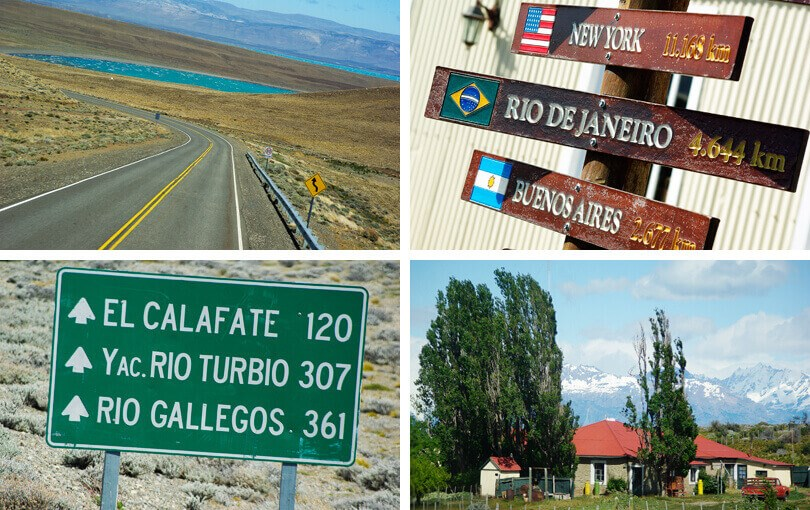 Driving between El Calafate & El Chalten