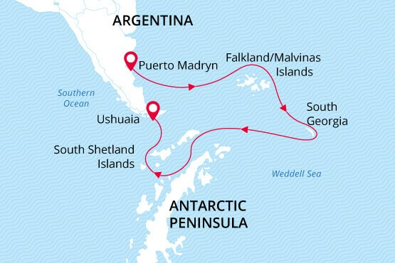 Sea Spirit Antarctica Cruise Map