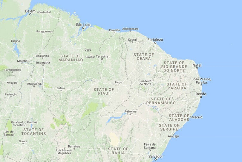 Northern Brazil Map