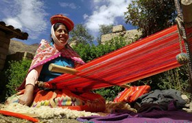 Admire the incredible weaving skills of the local people