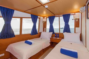 Spacious upper deck cabin with great views