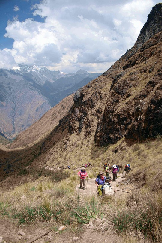 Walking in the Sacred Valley, Peru