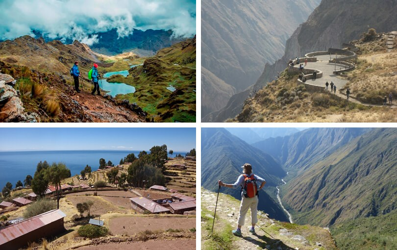 alternative honeymoons - walking in Peru
