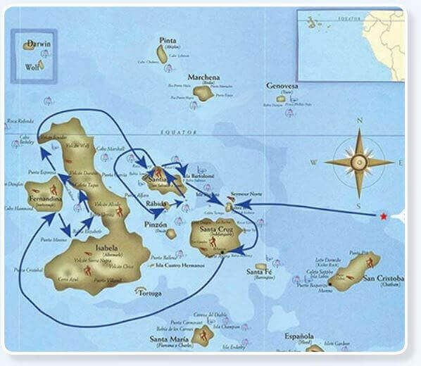 Seaman Journey galapagos route