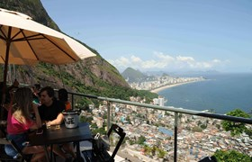 Terrace restaurant with Bossa Nova music and view