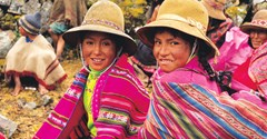 Local girls in traditional costume