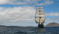 The Mary Anne with full sail, a quite magnificent sight