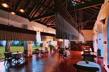 High Ceilings Reflect The Hotels Previous Life As A Boatyard